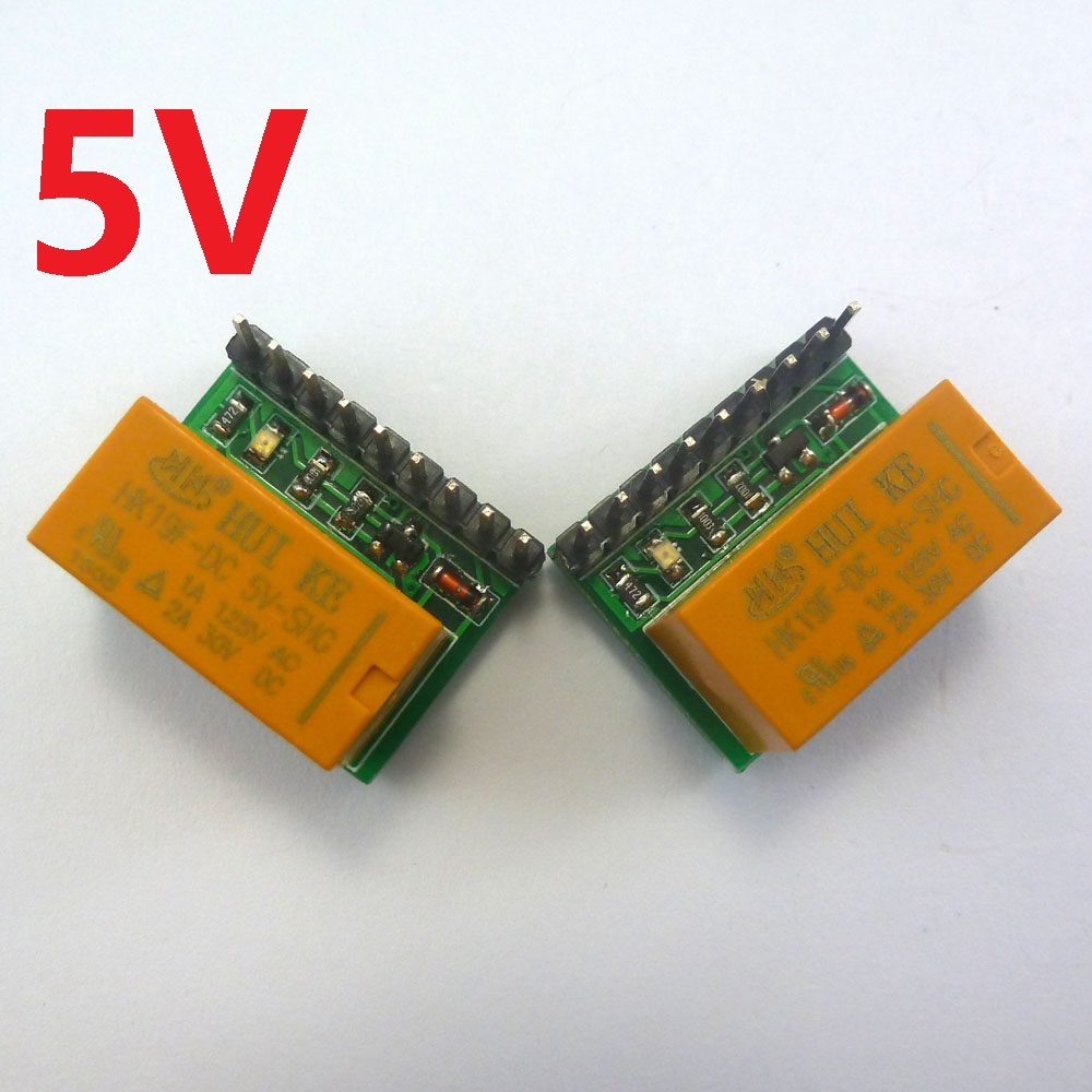 hight resolution of 2pcs mini 1 channel 5v dc dpdt relay board double pole double throw switch module hk19f pcb for arduino raspberry pi