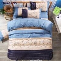 AHSNME Elegant Rose Bedding Set Simple Nordic Bedclothes Pastoral Floral Bedlinens US King Queen Size Stripes Bedroom Textile