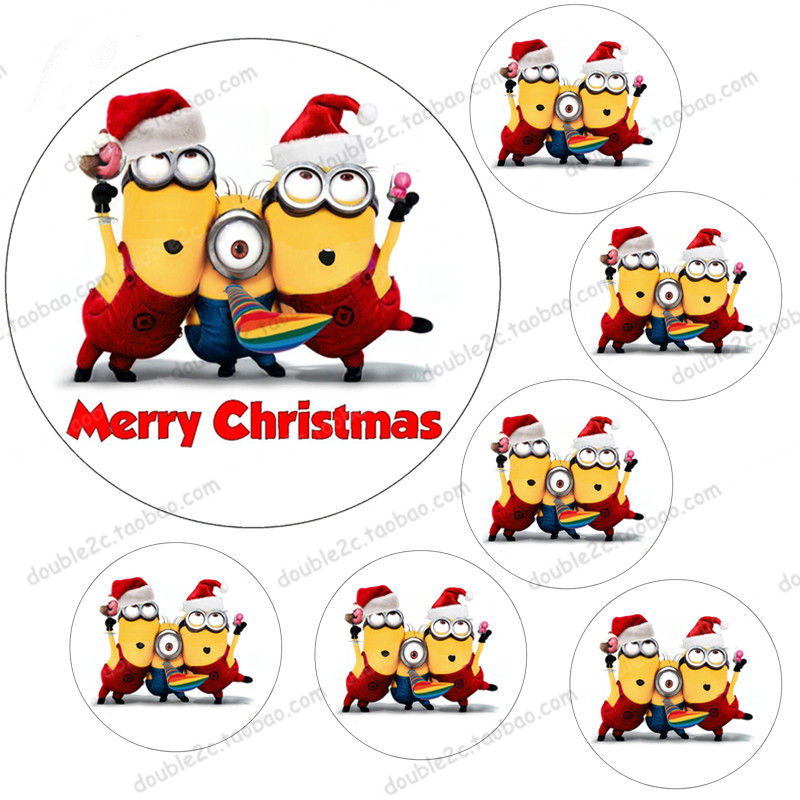 wafer paper for cake minionschristmas minions7pcsset 1pc 8 6pcs 2edible christmas decorations for the cake in other cake tools from home garden - Minions Christmas Decorations