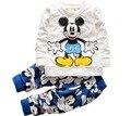 Новая весна хлопок baby boy одежда с длинным рукавом футболки + брюки младенческой мальчики устанавливает детская одежда костюмы для новорожденных chidlren
