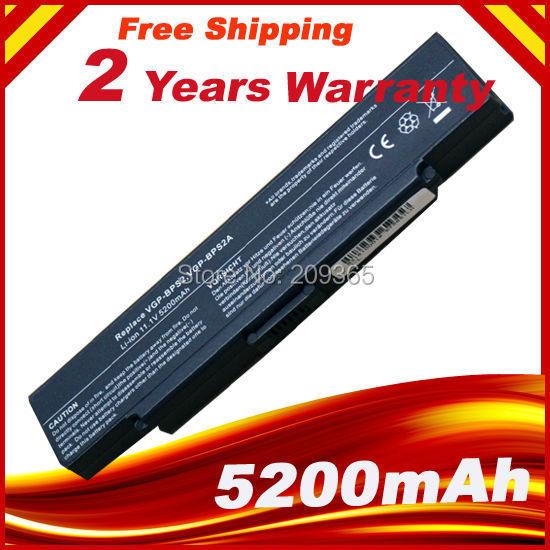 5200 mah 6 celdas de batería para portátil sony vaio vgn pcg vgc-la vgp-bps2 vgp-bps2a vgp-bps2b vgp-bps2c