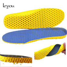Leyou Orthotic Sport Shoe Pad Comfortable Insoles Honeycomb for Shoes Light Semelle Chaussure