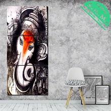 3 Piece Elephant Ganesh Canvas Art Decorative Pictures Wall Poster Modern Wall Pictures for Living Room Posters and Prints все цены