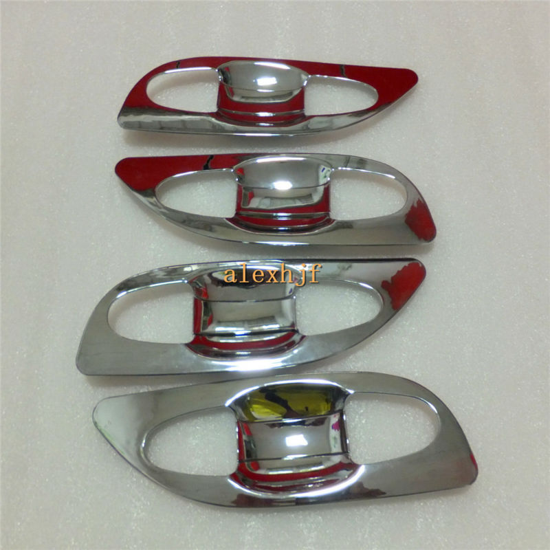 High-quality ABS Plating Door Bowl Case For Toyota Highlander 2014~ON, seamless fit, 8pcs/set for 1 car, free shipping
