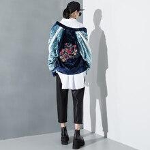 New Design Style Women Fashion Velvet Baseball Uniform Jacket Heavy Embroidery Velvet Ajcket Coat 2017 Spring