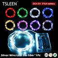 +Sale!+ 20/30/50/100 LED 2-10m Silver Wire 4.5V String Lights Splendid Party Wedding # TSLEEN