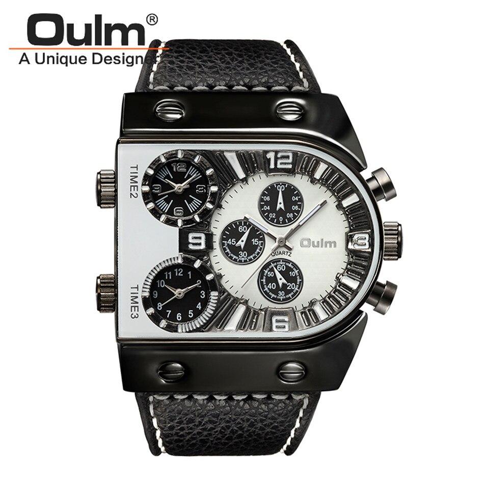 OULM 2018 Originele Fashion Designer Merk Quartz Horloges Heren 3 - Herenhorloges - Foto 1