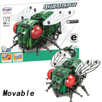 Movable legoing Fly Technic Animal With Motor Battery Box 280pcs Building Blocks Bricks Educational DIY Toys for Children Gift