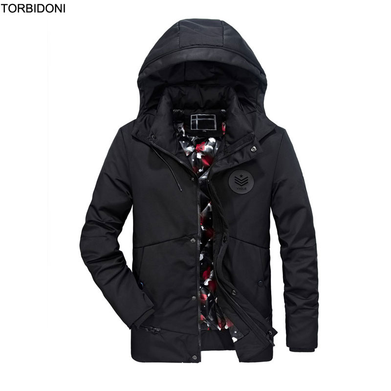Winter Jacket Men Thick Warm Coat Fashion Casual Parka Jaqueta Masculina Inverno Detachable Hat Hooded Overcoat Men Badge Design стоимость
