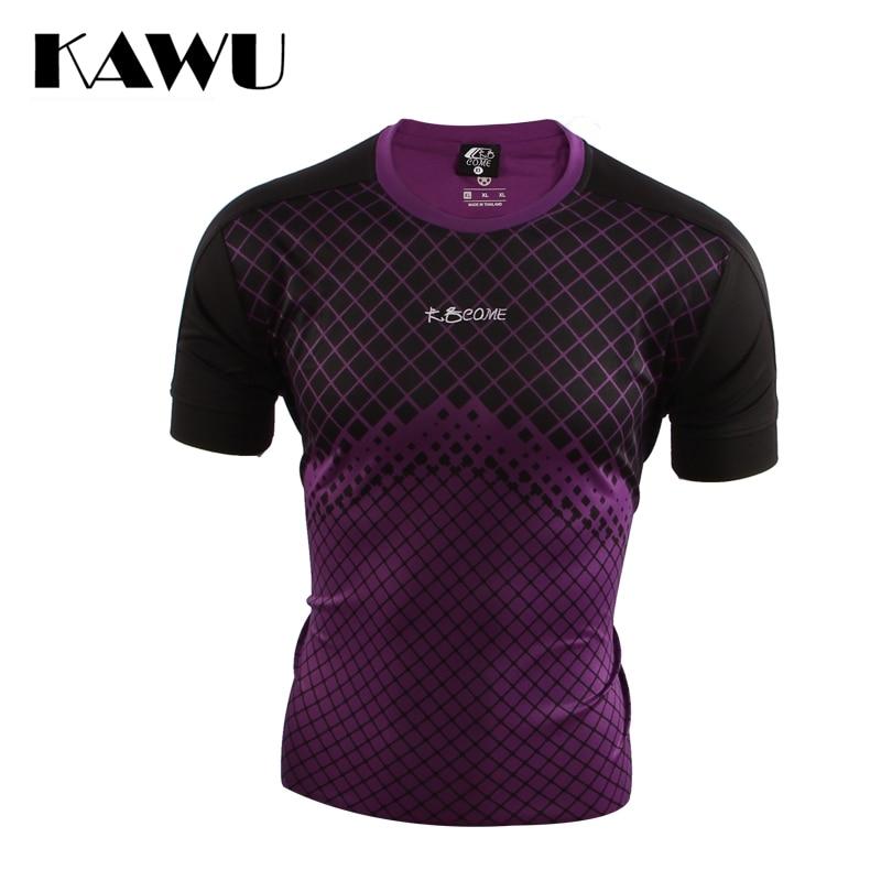 KAWU sport t shirt men Breathablesoccer Running T Shirt Jersey Soccer Short Sleeve Sportwear Camisas De Futebol C17011