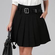 Новая осенне-зимняя женская юбка Ol размера плюс, Повседневная плиссированная юбка с высокой талией, шерстяные женские юбки