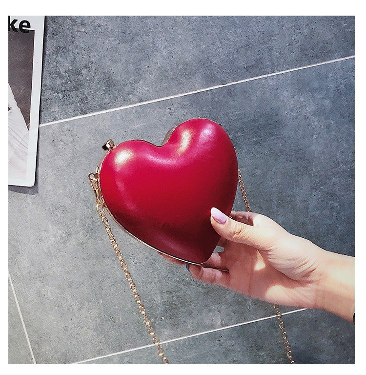 Fashion Women Heart Shape Pu Leather Ladies Shoulder Bag Tote Party clutch bag Crossbody Mini Messenger Bag Handbag Flap fashion design vintage ladies box shape handbags corduroy ock buckle pu leather party totes shoulder bag crossbody messenger bag