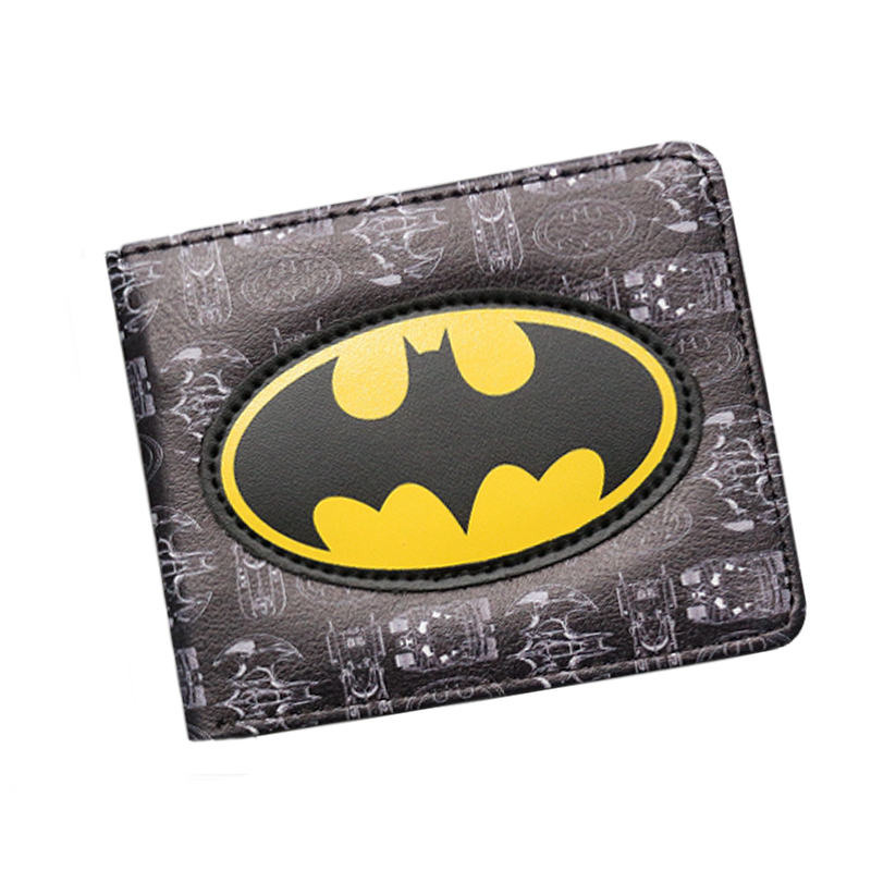 New DC Marvel Comic Wallet carteira feminina Men Wallets Short 3D Slim Prints Cards License Money Bags Boys Girls Leather purse фотообои marvel marvel comic heroes 3 68х2 54 м