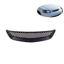 MAHAQI FOR 01-03 HONDA CIVIC 2DR/4DR EM/ES BLACK ABS TYPE-R STYLE GRILLE COVER GUARD Hot Sale