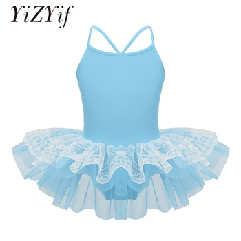 YiZYiF Kids Ballet Tutu Dress layered lace ballet dress for girl Ballet Dance Gymnastics Leotard clothing dance ballet dancewear фото