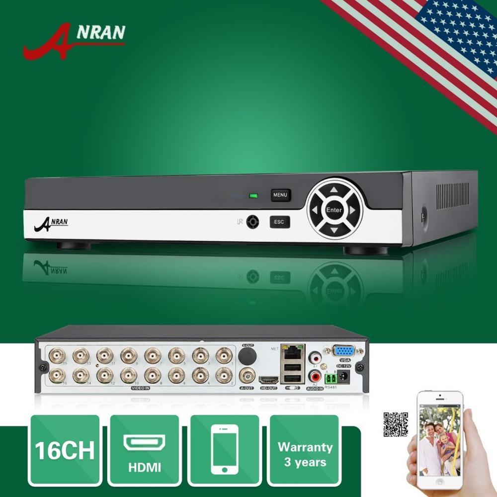 ANRAN 16CH DVR HDMI VGA 960 H D1 Ghi Video Âm Thanh PTZ Cho CAMERA QUAN An Ninh Camera Kit