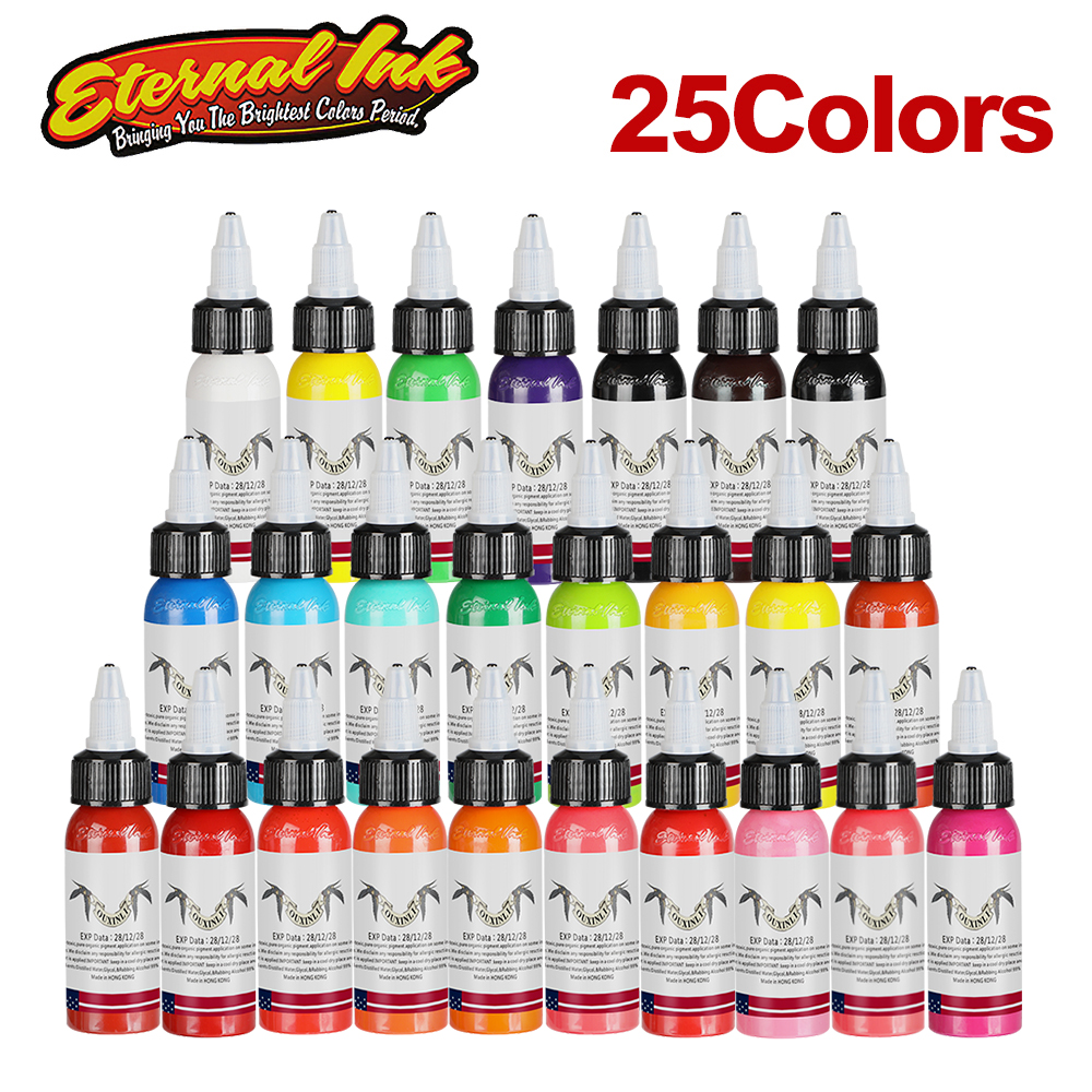 25Pcs 1 Body Painting Tattoo Ink Set Permanent Makeup Coloring pigment Eyebrows Eyeliner Tattoo Paint Body Makeup Ink Tool25Pcs 1 Body Painting Tattoo Ink Set Permanent Makeup Coloring pigment Eyebrows Eyeliner Tattoo Paint Body Makeup Ink Tool