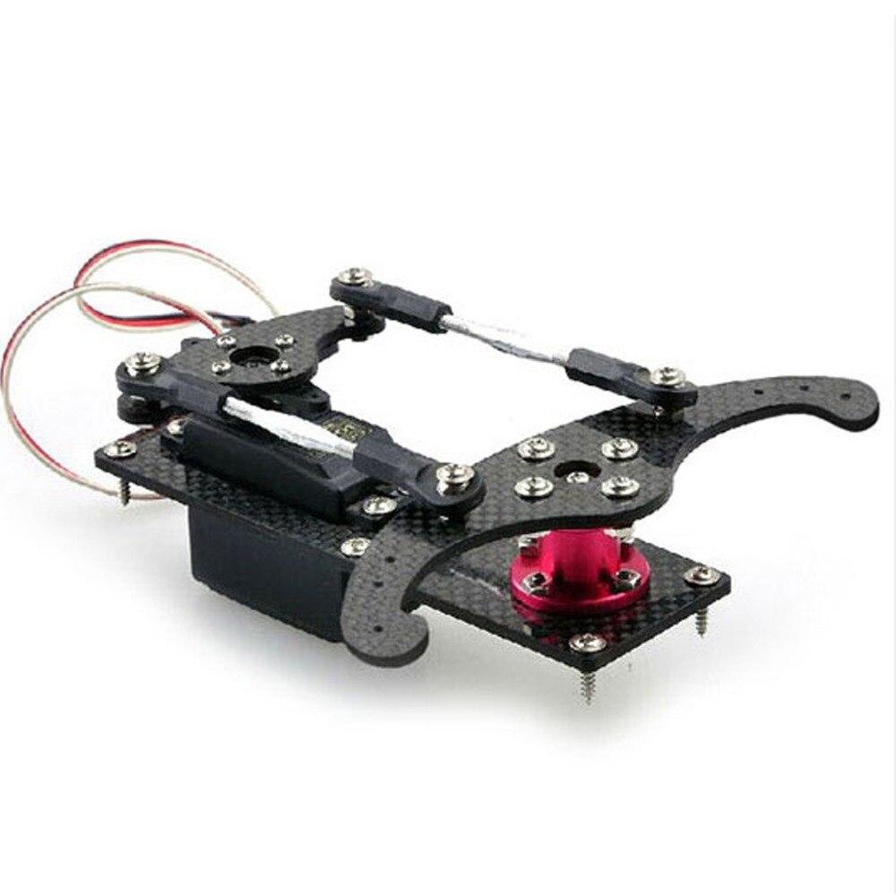 1 Set Carbon Fiber Vertical Rudder Mount Rudder Tray Set for RC 20-50CC Gas Engine Airplane Model Parts
