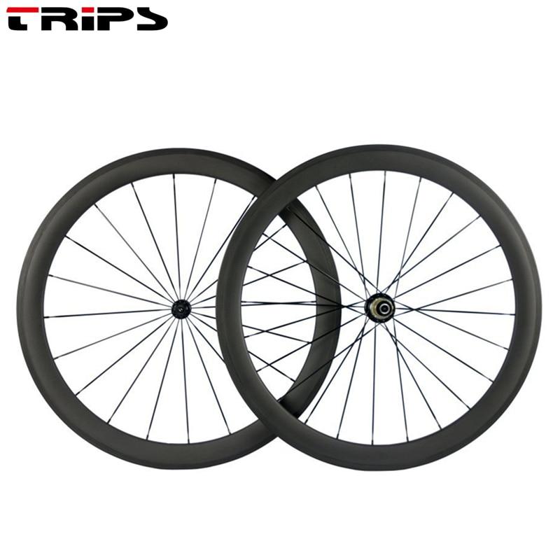 700C carbon road wheels 50mm depth carbon road Bike Wheelset R13 hubs clincher 25mm width tubular