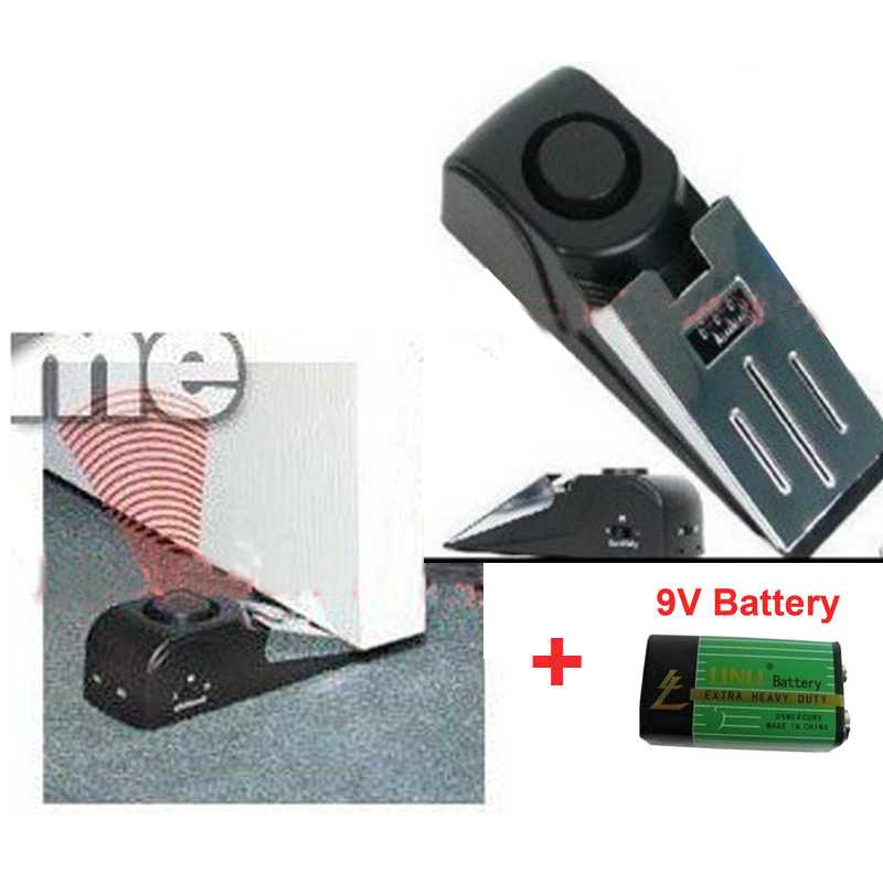 with 9V battery Door stop alarm door resistance alarm siren,stopper Burglar security door anti entry easy alarm for door