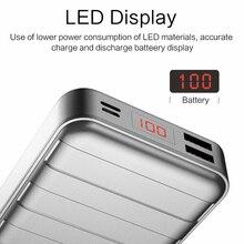 USAMS Cute Power Bank 20000mAh, USB Mi 20000mah Power bank  Portable Slim Charger For Smartphone Universal External Battery