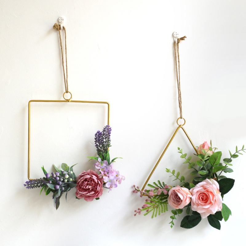 New Fashin Nordic Style Iron Frame Wall Hangings Home Hemp Rope Jewelry Restaurant Wall Decoration Habitacion Wind Chimes Decor