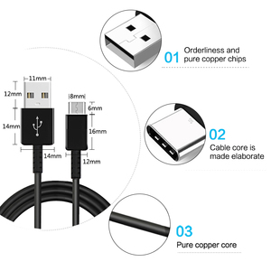 Image 2 - Vothoon USB Type C Cable For Samsung Galaxy S10 Plus S10e S8 S9 Plus Fast Charging USB Type C 1.2m Cable