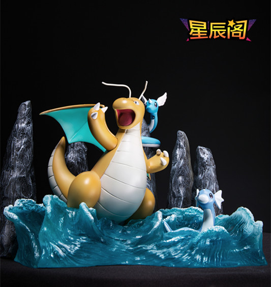 MODEL FANS IN-STOCK 22cm pokemon Pocket Monsters Dragonite GK resin made toy figure for Collection model fans in stock 23cm pokemon snorlax gk resin made figure toy for collection