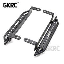 1 paar Metalen Kant Pedaal Voor 1/10 RC Crawler Auto Traxxas TRX4 Defender Bronco Ford Side guard plaat aluminium voetpedaal