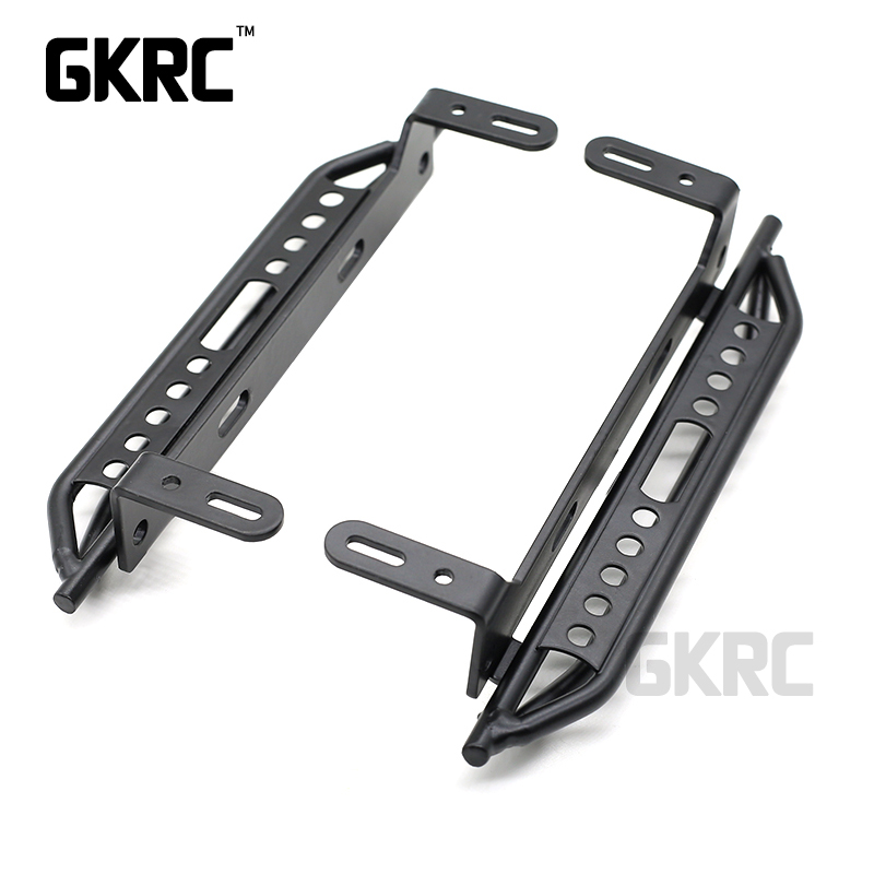 1pair Metal Side Pedal For 1/10 RC Crawler Car Traxxas TRX4 Defender Bronco Ford Side guard plate Aluminium alloy Foot pedalParts & Accessories   -