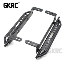 1pair Metal Side Pedal For 1/10 RC Crawler Car Traxxas TRX4 Defender Bronco Ford Side guard plate Aluminium alloy Foot pedal