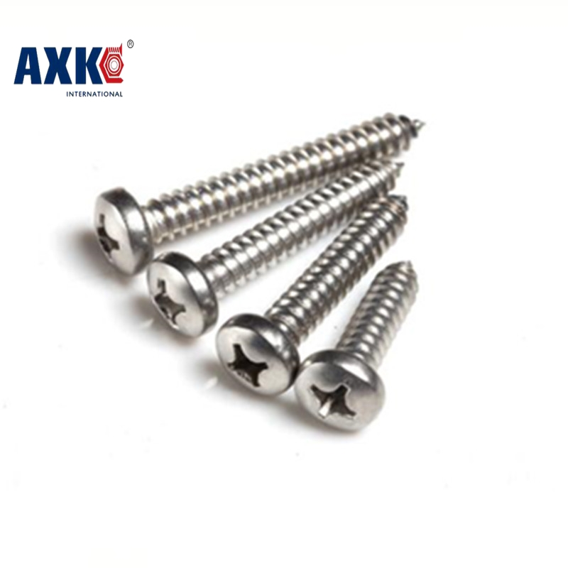 2017 New Real Axk 100pcs M1.7 M2 M3 Stainless Steel Electronic Screw Cross Recessed Phillips Round Pan Head Self Tapping 1000pcs m1 2 3 4 5 6 1 2mm nickel plated micro electronic screw cross recessed phillips round pan head self tapping screw