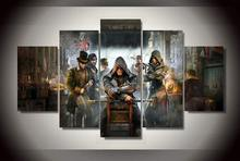 2017 Real New Arrival No Wall Art Paintings Framed Assassins Creed Syndicate Painting On Canvas Room Decoration Print Picture