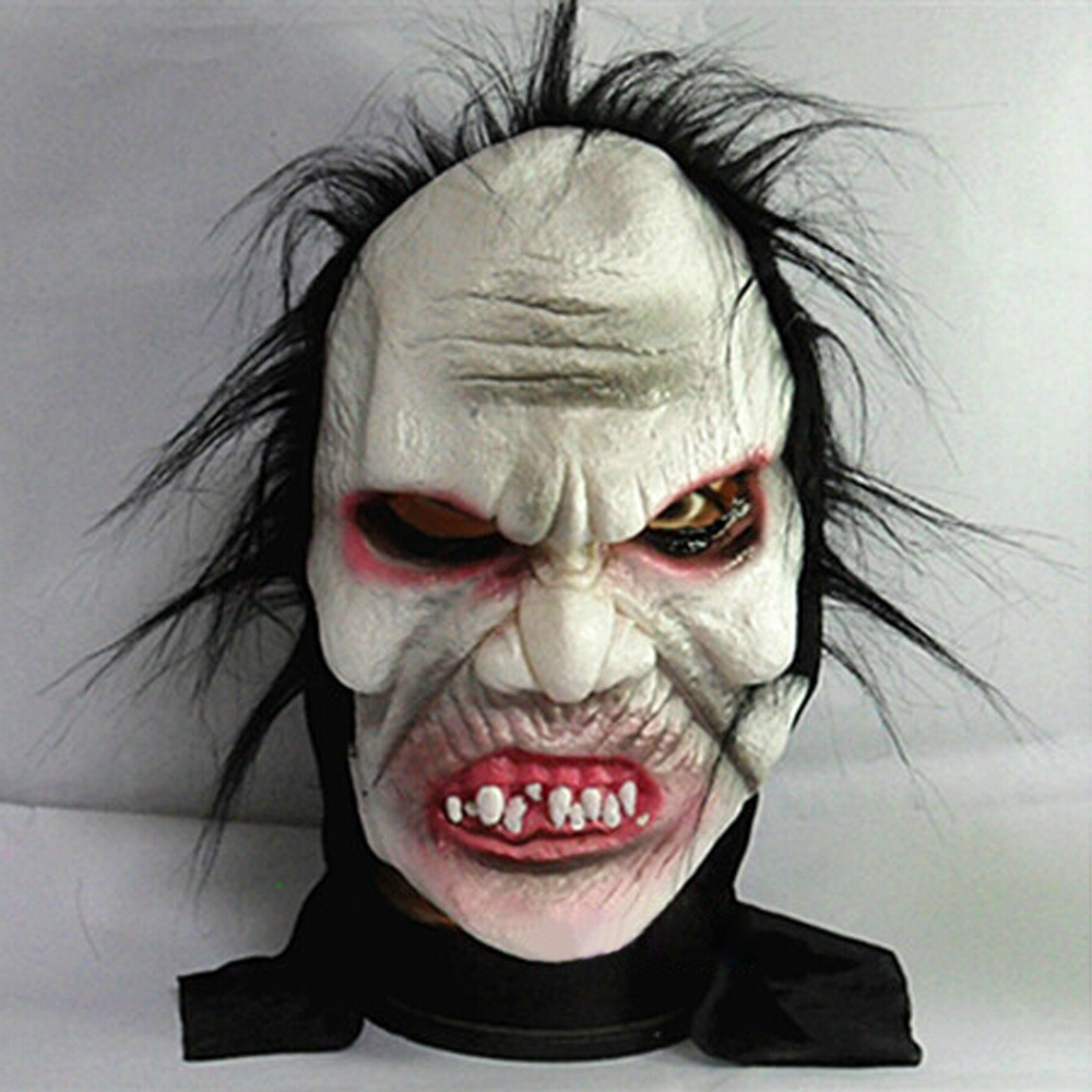 2015 angry zombie demon full head mask scary halloween prank prop for costume carnival parties creepy - Creepy Masks For Halloween