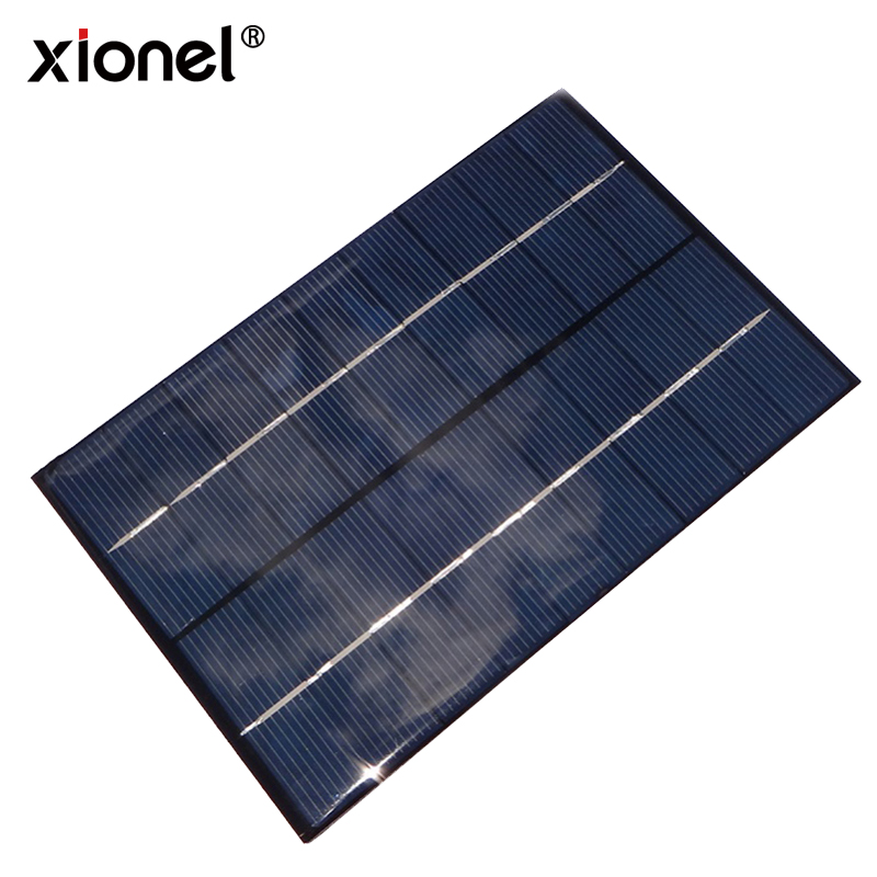 Xionel 4.2W 9V/460mAh Mini Encapsulated Solar Cell Epoxy Solar Panel DIY Battery Charger Kit for Battery Power 200x130mm