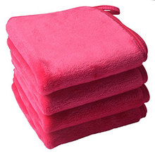 Sinland Microfiber Makeup Remover Cloth Face Cloths Facial Cleaning Towels Fast Drying Washcloth 400 GSM 9.8Inx9.8In 4 Pack