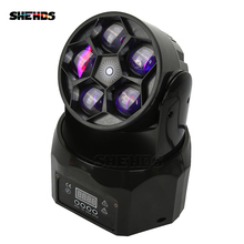 LED Beam+Wash Five Bees Eyes 5x12W RGBW DMX512 Stage Effect Lighting For DJ Disco Party Wedding Decoration Nightclub And Bar 2pcs lot new stage interactive led dance floor light china for disco nightclub dj bar party wedding decoration dancing lighting