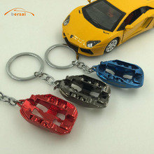 цены BERSAI 1 piece Alloy Car shaped key ring For Ford Toyota MAZDA HYUNDAI BUICK NISSAN honda civic mazda 3 Car styling accessories
