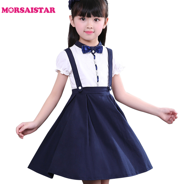 11e2eeb9467 The little girl college dress school performance dress girls summer dresses  2018 girls dresses for party and wedding