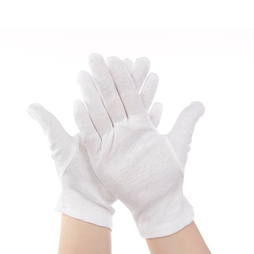 REBUNE 12 paires/Blanc Travail gants 100% Coton gants de Cérémonie pour mâle femelle Servir/Serveurs/pilotes/bijoux Gants RE8001