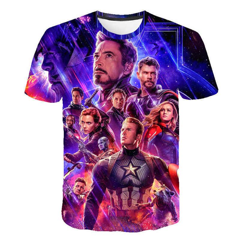 Новая летняя коллекция 2019 года, футболки с 3D принтом «Союз Мстителей», 4 серии, футболка с принтом «мстители» для мальчиков и девочек