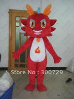 export high quality character dragon mascot costumes green and red dinosaur cstumes