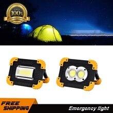 Rechargeable COB Flashlight LED Camping Work Light Power Bank 10W Bright Portable Rechargeable Emergency Working Light цены онлайн