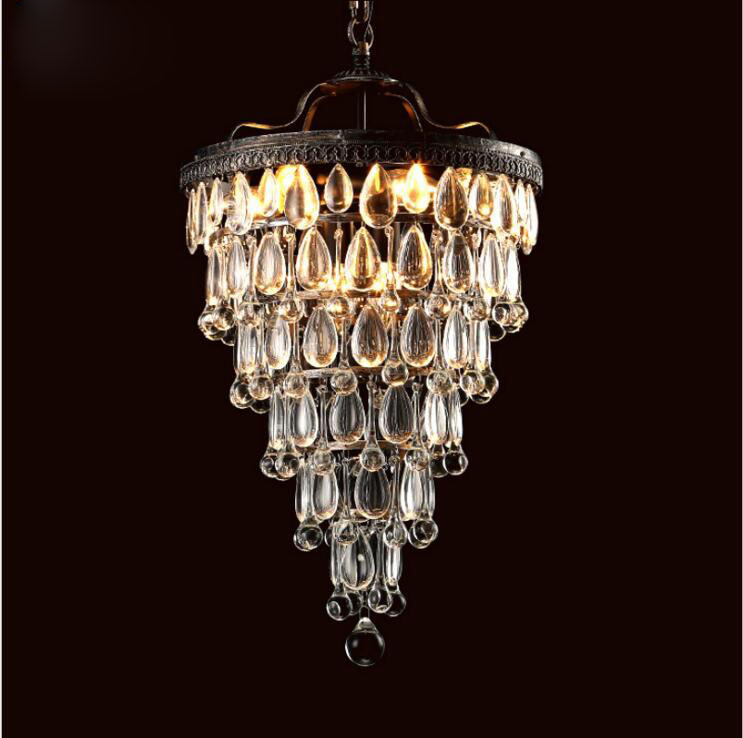 American Village led Iron Retro Ceiling Lamp Bedroom Bedroom Aisle French Crystal Chandelier lighting fixture for home lamps uovo 2018 summer breathable kids running shoes fashion brand boys and girls casual shoes mesh sport shoes sneakers size 31 37