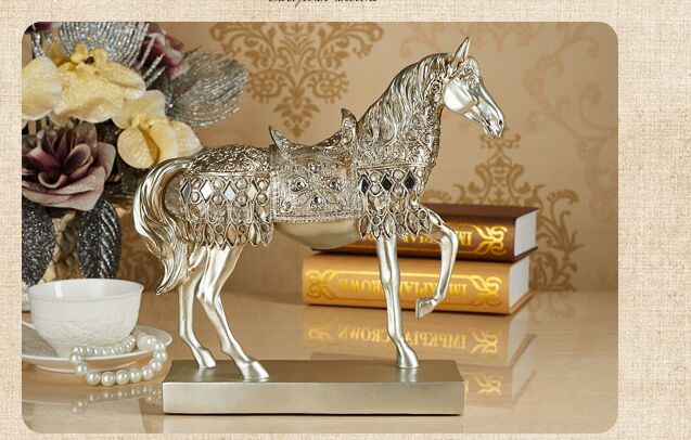 resin Europe Retro horse artcraft 28x8x28cm ornaments,furnishings office desk decoration birthday gift a2408