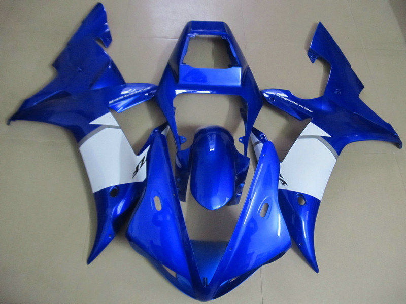 Motorcycle Fairing kit for YAMAHA YZFR1 02 03 YZF R1 2002 2003 yzfr1 YZF1000 ABS blue white Fairings set+7gifts YM88