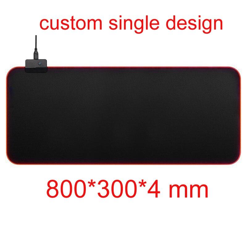 Personnaliser unique 800*300mm tapis de souris de jeu RGB 14 couleurs LED éclairage USB câble clavier souris souris tapis verrouillé bord anti-dérapant