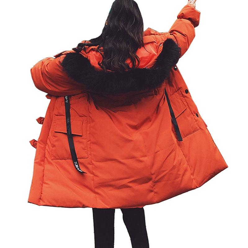 De Veste Capuchon En À Parka Féminin Manteau corail Vêtements Longue 2018 Pour Plus Épais Coton La D'hiver Beige Femmes Taille Mujer Casaco Chaud Rouge Inverno tIwtxq6H