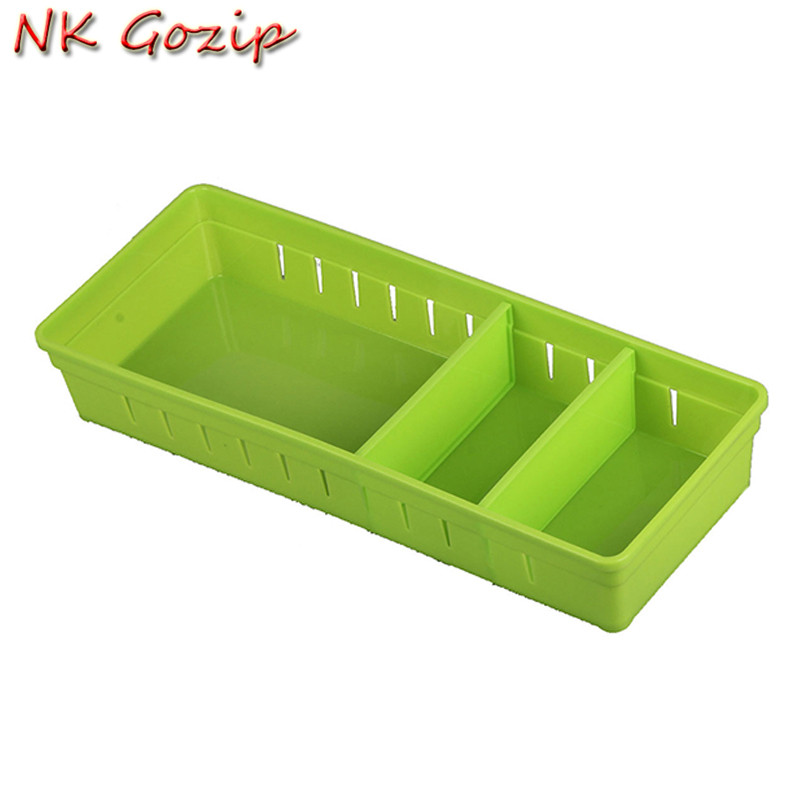 NK Gozip 5Pcs For Small Items Adjustable Drawer Organizer Home Kitchen Board Divider Makeup Storage Box Pencil Jewelry Organizer