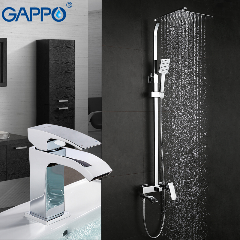 GAPPO смеситель для умывальника, ванна кран настенный смеситель для ванной раковины Смеситель для ванной